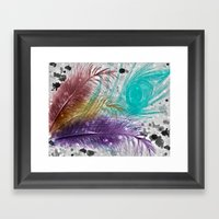 Feathers And Ink Framed Art Print