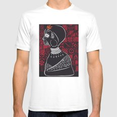 Tribal woman with traditional patterns Mens Fitted Tee SMALL White