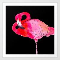 Fancy Flamingo Art Print