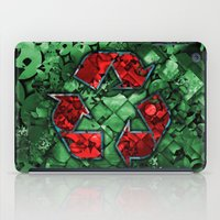 Recycle World - Green iPad Case