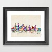 philadelphia pennsylvania Framed Art Print
