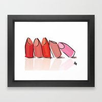 Lipsticks Framed Art Print