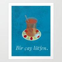 Bir çay Lütfen - Vinta… Art Print