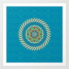 Swirl Tile Pattern Art Print