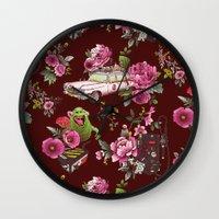 Ecto Floral Wall Clock