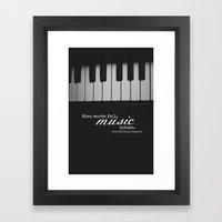 Music Speaks Framed Art Print