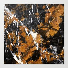 Black and Gold Marble Canvas Print
