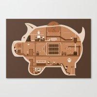 Piggy Bank Canvas Print