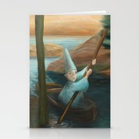 In his Boat Stationery Cards