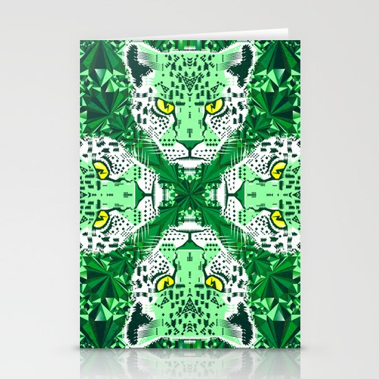 Emerald Leopard  Stationery Card