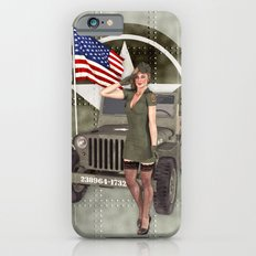 Army Blonde Pinup Slim Case iPhone 6s