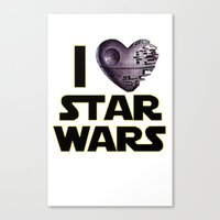 Love Star Wars  Canvas Print