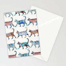 Cat Collection – Blue & Brown Palette Stationery Cards
