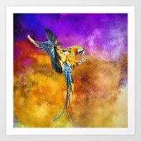Dazzling Macaw Art Print