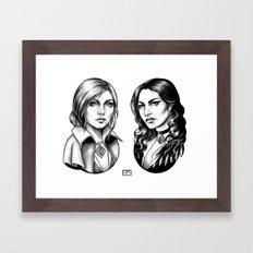 Yennefer and Triss Framed Art Print