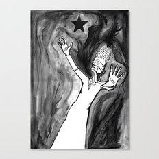 Lazarus 3 - Bowie Blackstar tribute, version Canvas Print