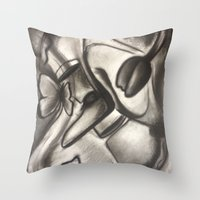 Love Brings Pretty Thing… Throw Pillow