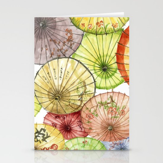 Paper Umbrellas Stationery Card