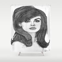 Jean Shrimpton Shower Curtain