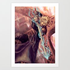 FFVII Advent Children Cloud Art Print