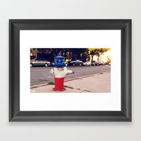 Hydrant National ∫ Liv… Framed Art Print