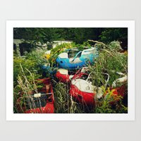The Abandoned Enchanted Forest Playland Art Print