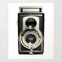 camera Art Prints featuring Vintage Camera by Ewan Arnolda