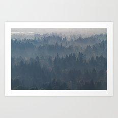 Hazy Layers Art Print