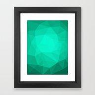 Geometric Polygonal Patt… Framed Art Print