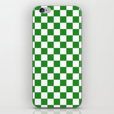 Checker (Forest Green/White) iPhone & iPod Skin