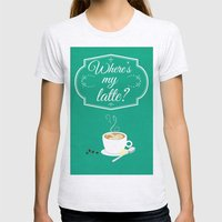 Where's My Latte? Womens Fitted Tee Ash Grey SMALL