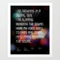 Drowning In The Digital … Art Print