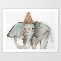 Elephant Sized Fun Art Print