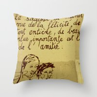 French Graffiti In Paris Throw Pillow