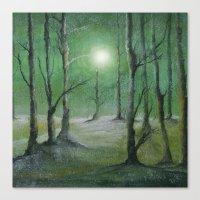 Track 5: Green Winter Canvas Print