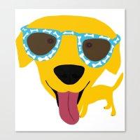 Labrador dog - Sunglasses Canvas Print