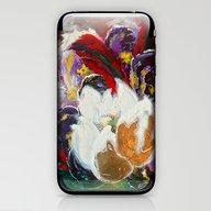 Purple Peonies In Gold W… iPhone & iPod Skin