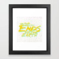 Ends Framed Art Print