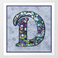 The Letter D Art Print