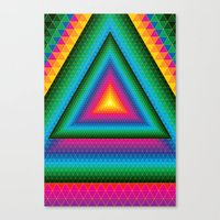 Triangle Of Life Canvas Print