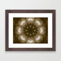 Chocolate Mosaic - Fractal Art Framed Art Print