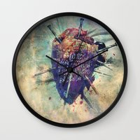 Damaged Heart Wall Clock