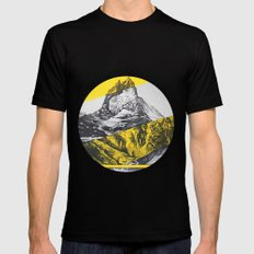 brocken mountain SMALL Mens Fitted Tee Black