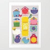 Home Tweet Home 2015 Cal… Art Print