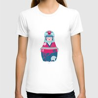 Geisha Womens Fitted Tee White SMALL