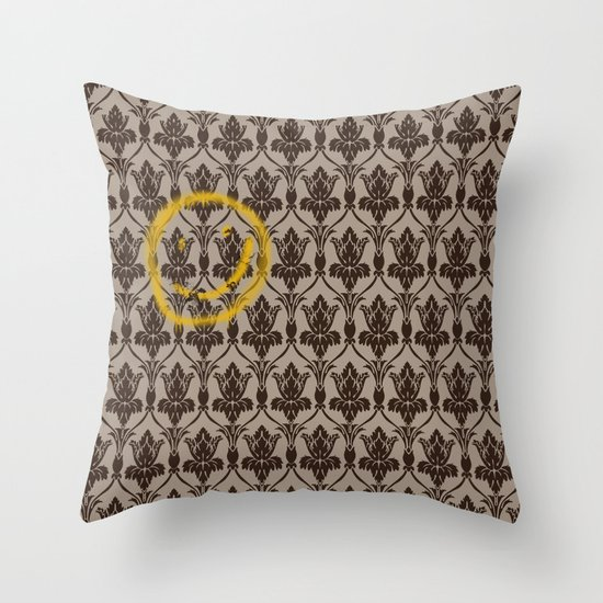 Sherlock Wallpaper Throw Pillow