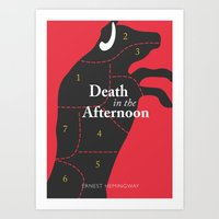 Ernest Hemingway book Cover & Poster - Death in the Afternoon Art Print