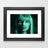 THE GREEN QUICK PORTRAIT Framed Art Print