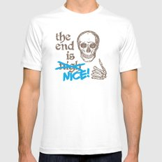 The End Is Nice Mens Fitted Tee White SMALL