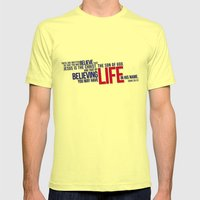 Life in His Name Mens Fitted Tee Lemon SMALL